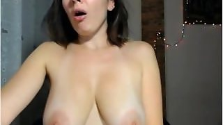 A Brunette With Natural Big Tits