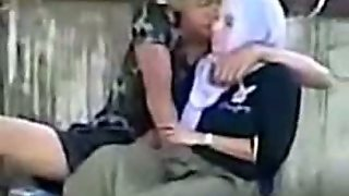 Indonesian- Hijab Girl Fingered