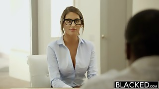 Blacked August Ames Gets An Interracial Creampie