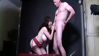 Old Guy Sucked By An Old Big Breasted Woman