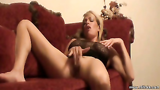 Milf Red Couch Fun