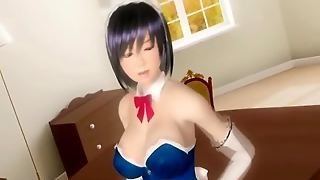3D Hentai Maid Shemale Hot Doggystyle Fucking