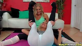 Brianna Ray And Zoey Portland Are Blond Haired Lovely Milfs