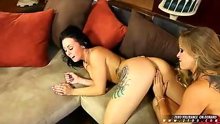 Tigth Ass Tattooed Brunette Gets Plasured By Heavy Chested Mature Pornstar
