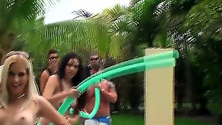 Outdoor Hot Fucking Action Is The Most Popular Hobby Among Teen Bitches Nowadays. So Check Out The Way Nasty Anna Marie And Horny Denise Everhart Enjoy Group Sex.