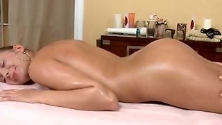 Blonde Fucked On A Massage Vibrator