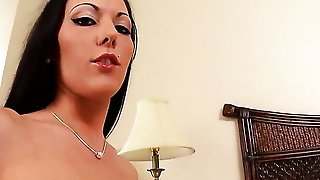 Solo Girl Is Playing With Toys