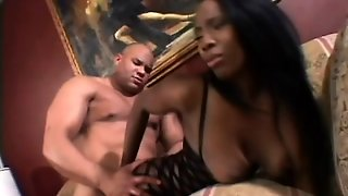 Stacked Chocolate Babe In A Fishnet Bodysuit Gets Pounded In The Ass
