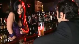 Madison Gets Fucked In Bar