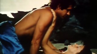 Ladies Enjoy Outdoor Sex On Beach In Italian Vintage Movie