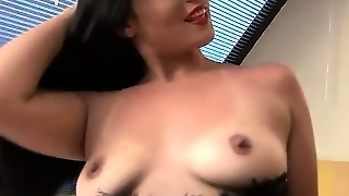 Busty Sexy Latina In Black