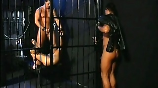 Leashed Slave Gets His Ass And Mouth Used By Two Well Hung Hunks