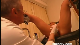 Cute Blonde Is A Victim Of Gynecologist