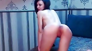 Lora Blue Rewards Her Pussy With A Dildo After A Sexy Striptease
