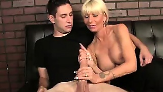 Big Boobs, Big Cocks, Handjob, Cumshot, Blonde, Milf