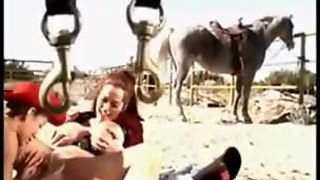 Busty Lesbian Cowgirls At The Ranch