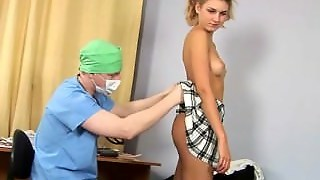 College Babe Gets Special Gyno Examination