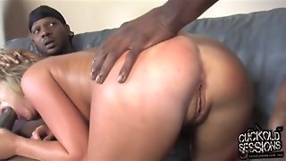 Jaelyn Fox Creampied By Blacks In Front Of Cuckold Husband