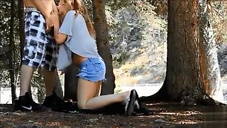 Amateur Sex In The Woods With A Young Girlfriend