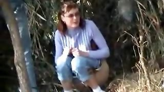Lady In Glasses Pees