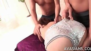 Special Examination For Young Japanese In Threesome