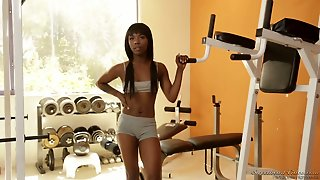Sporty Asian Instructor Mia Li Lures Black Hottie To Work On Her Wet Cooch