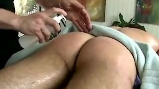 Gay Muscular Stud Masseur