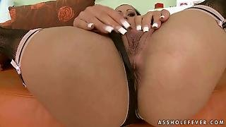 Sexy Maid Riding Two Cocks