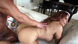 Bent Over Big Ass Redhead Fucked Doggystyle