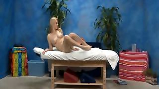 Cute Blonde Girl Allie Gets Seduced By Her Massage Therapist
