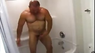 Hairy Cops Showers And Dresses Up