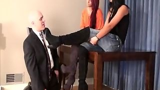 Hot Girls Humiliating Their Teacher