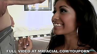 Exotic Beauty Loves Mr. Facial