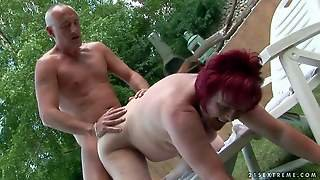 Mature Fat Redhead Whore With Pale Skin And Hanging Tits
