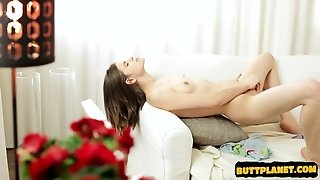 Busty Housewife Double Anal