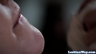 Lesbians In Scissoring And Pussylicking Trio