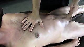 Straight Amateur Cumming From Handjob