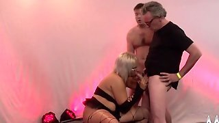 Blonde Glasses, Blonde Big, Blowjob In Boots, German Chubby Blonde, Following Big Ass, Glasses Boots, Gangbang With Cum, Ass Very Big
