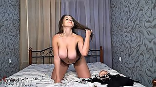 Seductive Slut With Huge Tits Does A Very Stimulating Solo