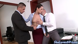 European Secretary Doublepenetrated Deeply