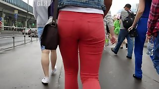 Russian Ass In Red Jeans