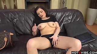 Brunette Fingering On The Couch __ __ __ _