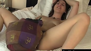 Horny Amber Humping A Pillow