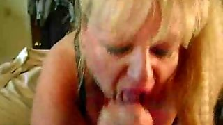 Blond Bbw Milf Gives Sloppy Head P