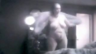 Curvy Bbw Mother-In-Law Puts Her Clothes On After Shower