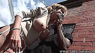 Lady Sonia Trophy Wife Fucked Outside