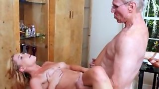 Teen Beauty Blowbanged By Group Of Oldmen