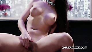 Luscious Babe Julia De Lucia Is Riding A Dick In The Presence Of Two Babes