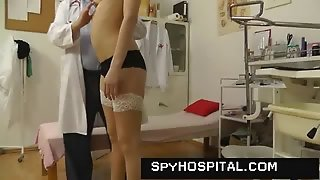 Sporty Blonde Caught On Hidden Cam In A Hospital