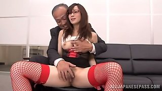 Secretary In Red Stockings Is A Dangerous Thing
